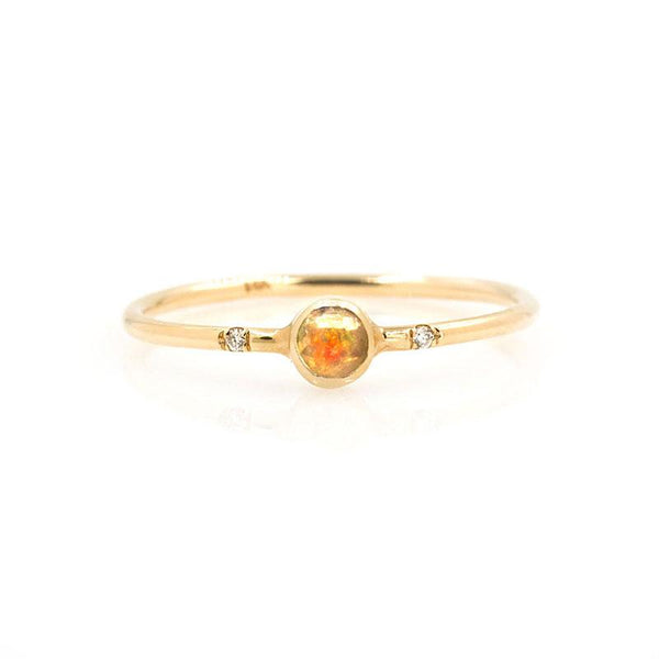 Gemstone Bezel Ring - LoveAudryRose.com