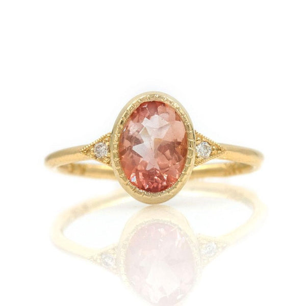 Oval Sunstone Ring