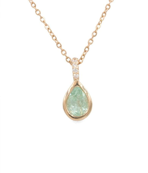 Paraiba Tourmaline Drop Necklace - LoveAudryRose.com