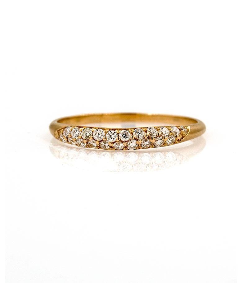 Pave Diamond Satin Band - LoveAudryRose.com