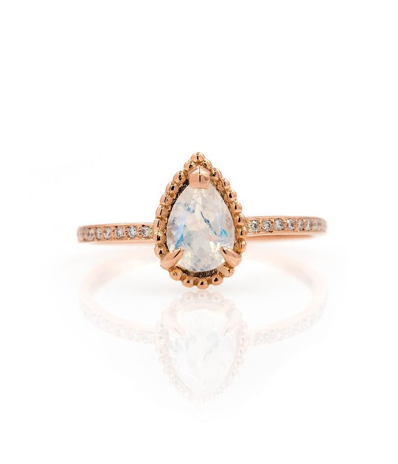 Teardrop Moonstone Ring - LoveAudryRose.com