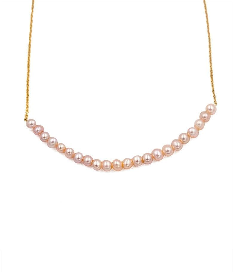 Pink Pearl Rosebud Necklace
