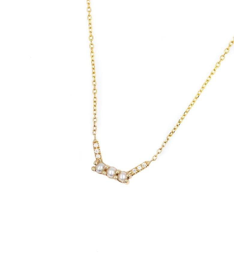 Pearl and Diamond Equilibrium Necklace