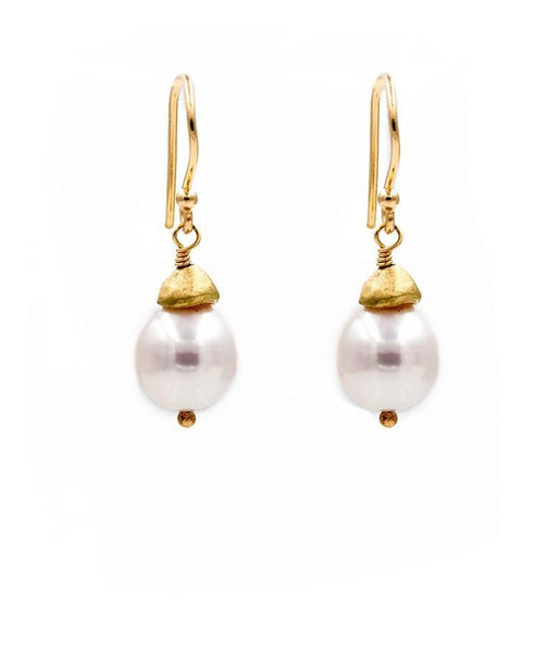 Baroque Pearl Drop Earrings - LoveAudryRose.com