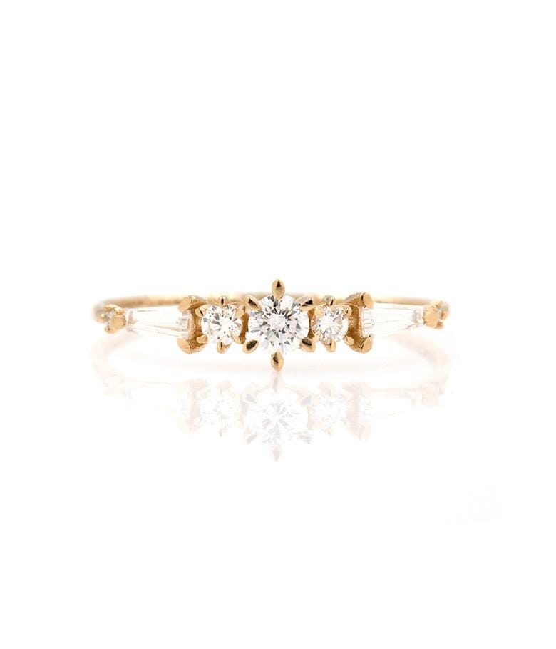 Prong Set Stardust Baguette Diamond Ring