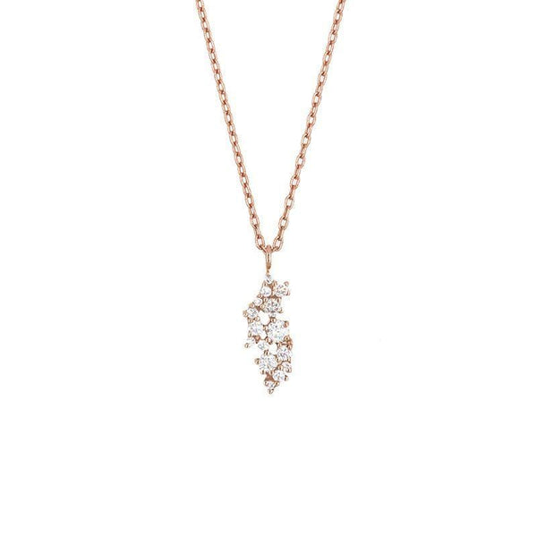 Cluster Diamond Charm Necklace - LoveAudryRose.com