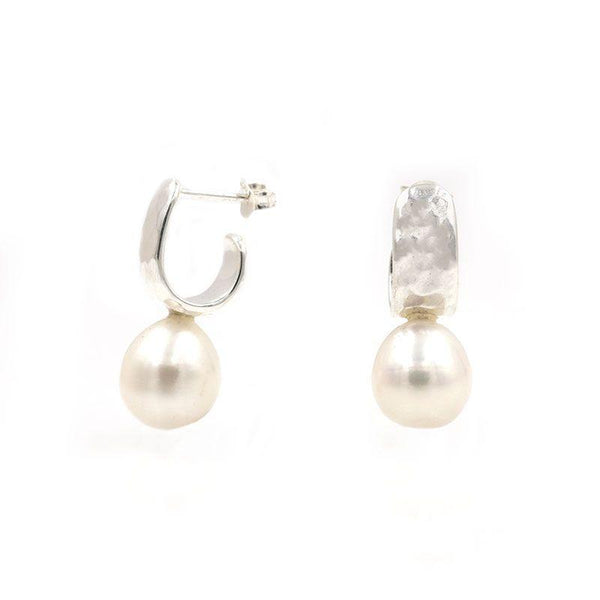 Pearl Hammered Hoops - LoveAudryRose.com