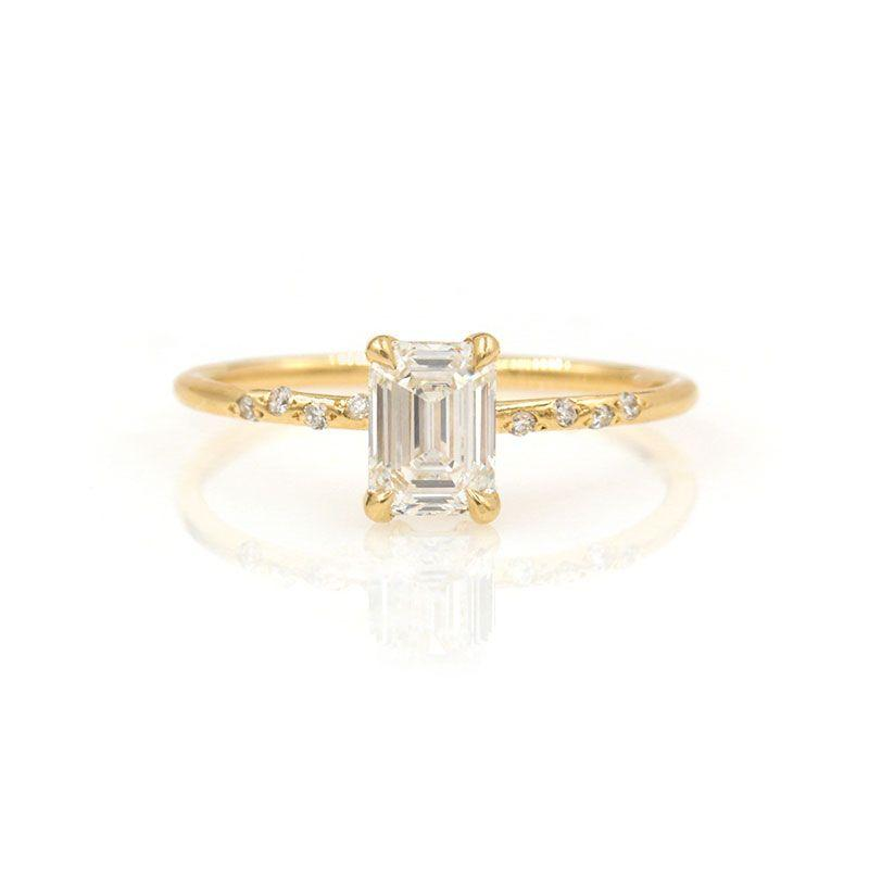 Starry Emerald Cut Diamond Ring - LoveAudryRose.com