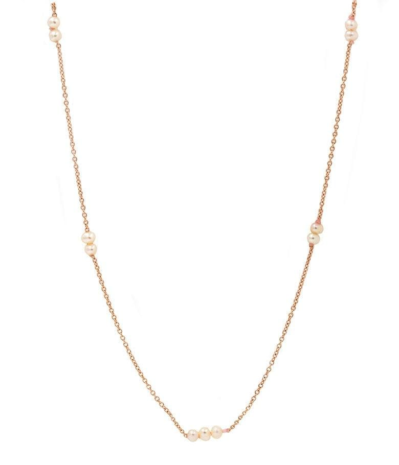 Rose Gold Baby Pearl Necklace