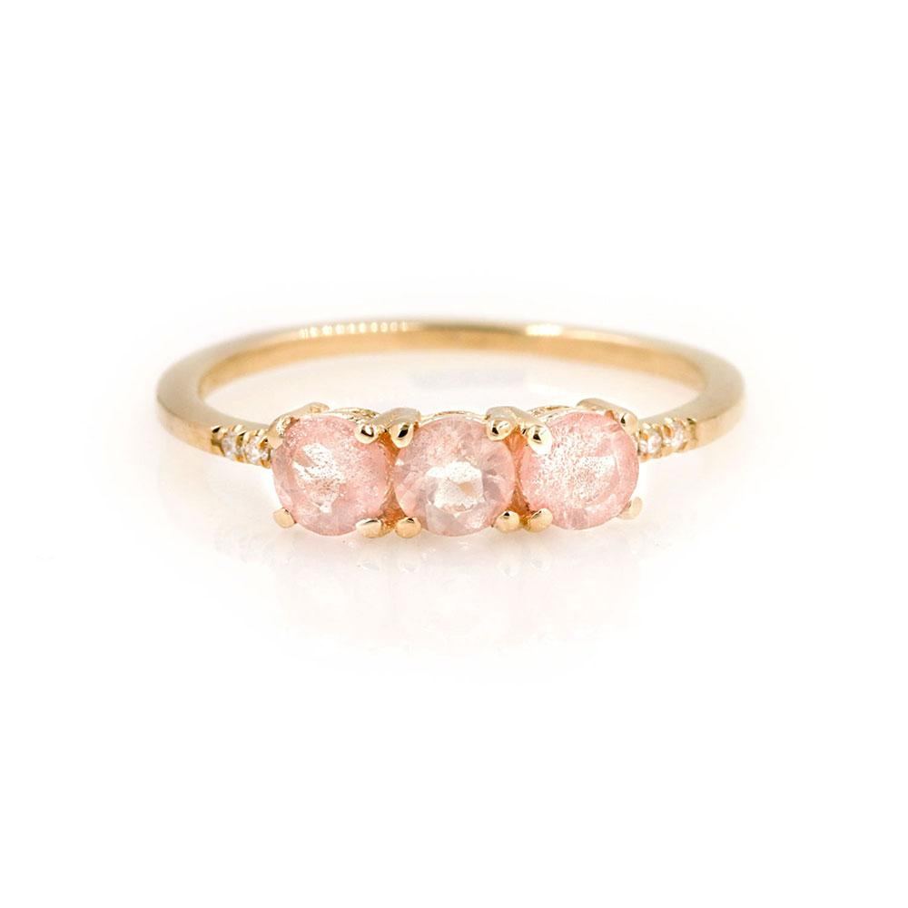 Triple Sunstone Ring