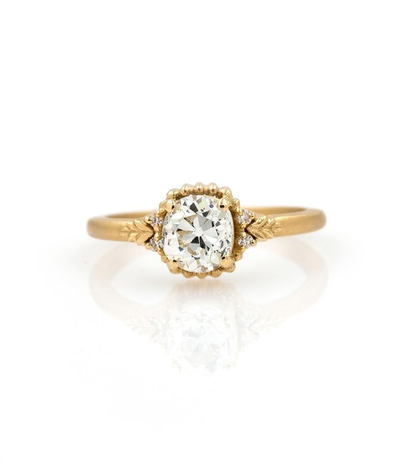 18k Leaflet Diamond Ring
