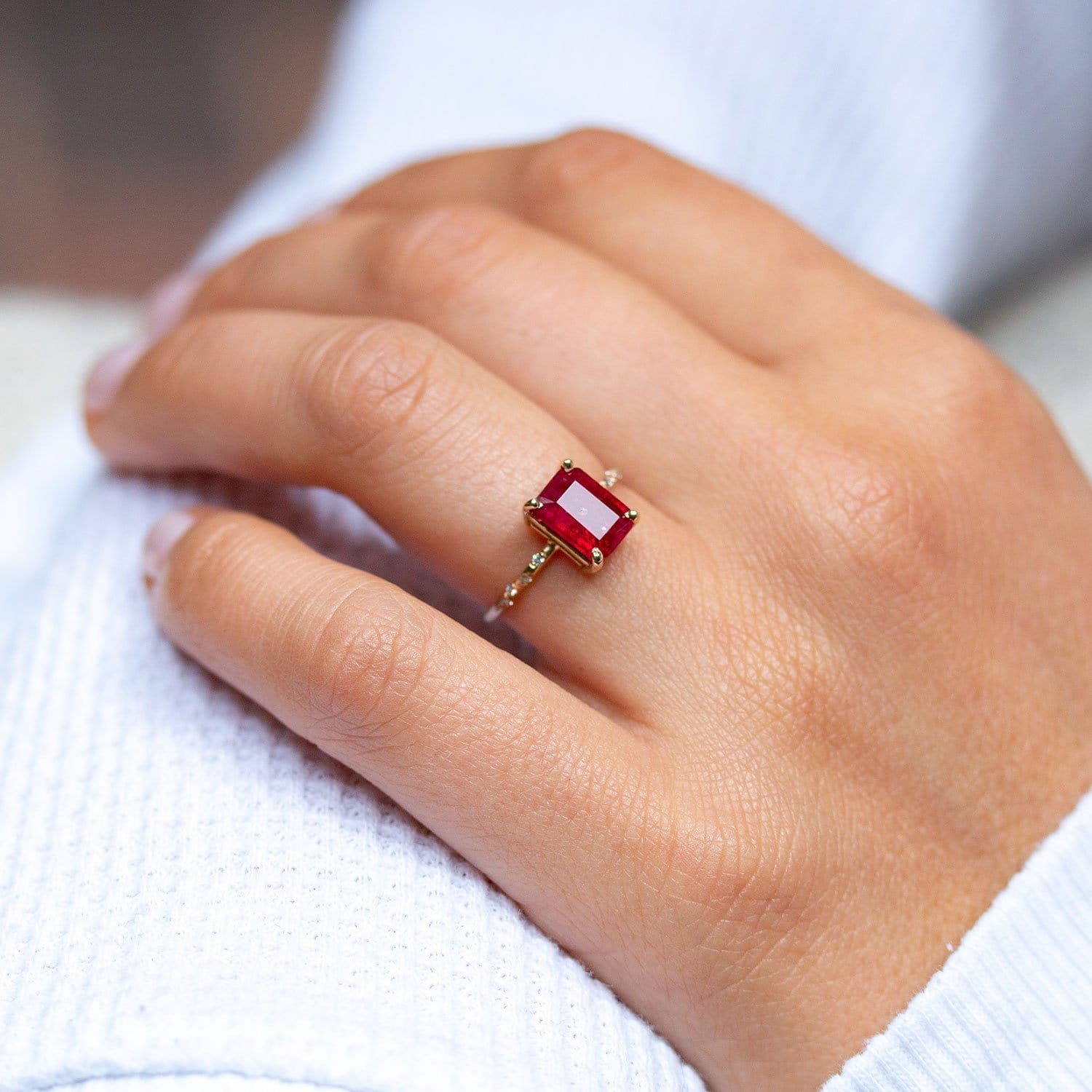 Large Starry Ruby Ring