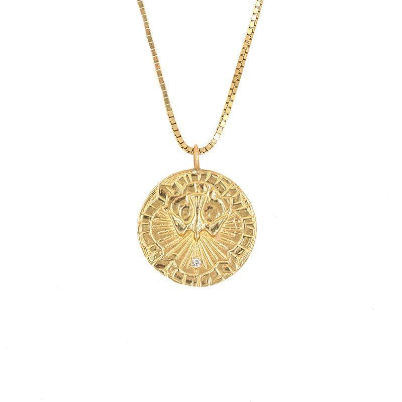 Spirit Dove Medallion Necklace - LoveAudryRose.com