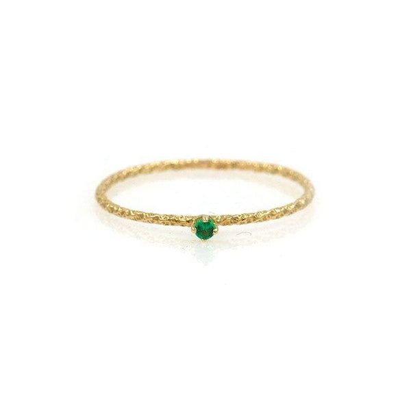 18k Tiny Twisted Emerald Ring* - LoveAudryRose.com
