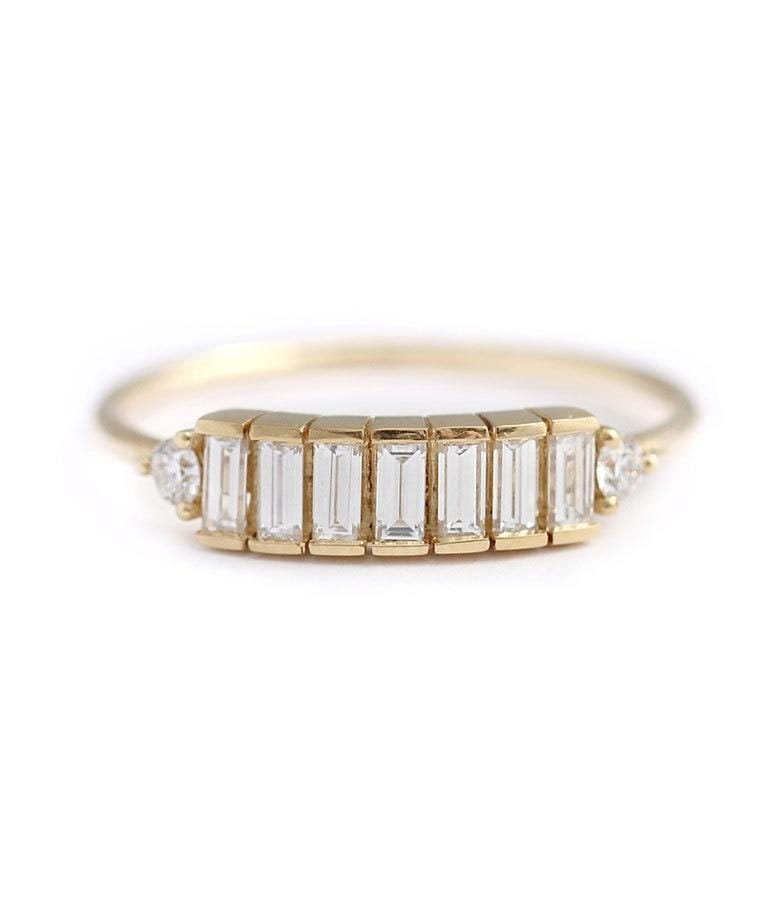 Seven Baguette Diamond Band