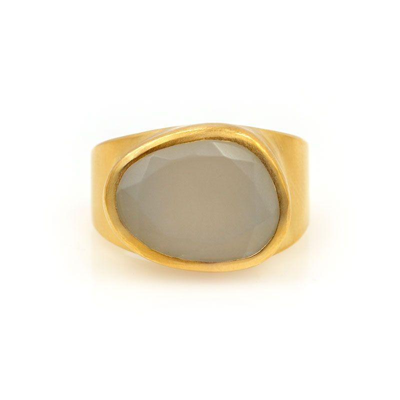 Freeform Moonstone Ring - LoveAudryRose.com