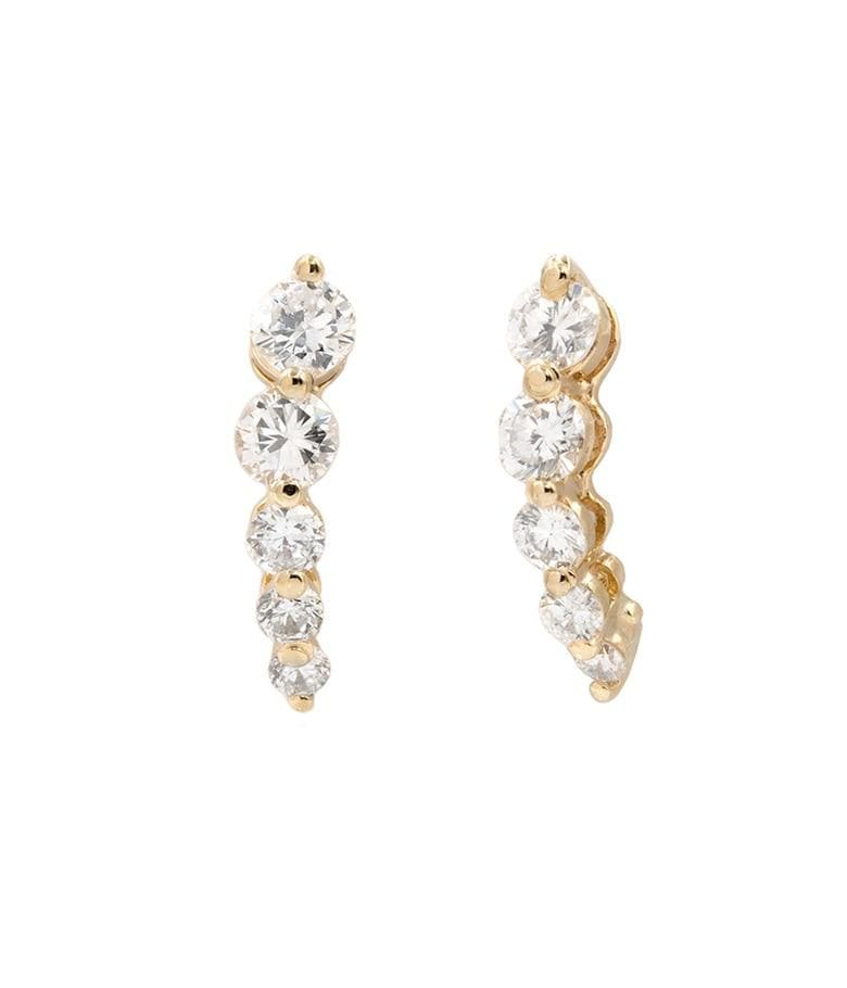 1 ct Diamond Shooting Star Studs