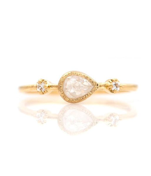 18k Sideways Pear Diamond Trio - LoveAudryRose.com