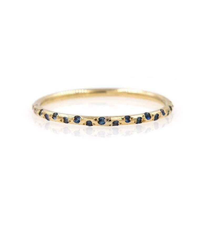 Thin Starry Sapphire Half Eternity Band*** - LoveAudryRose.com