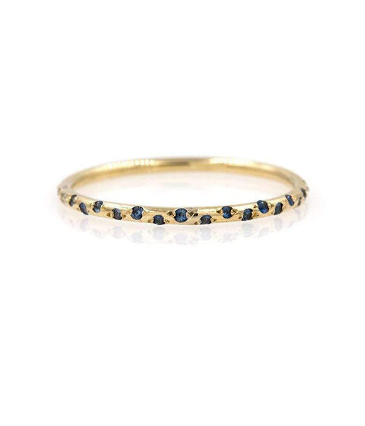 Thin Starry Sapphire Half Eternity Band* - LoveAudryRose.com