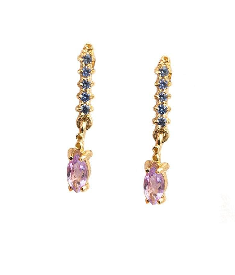 Straight Marquise Earrings