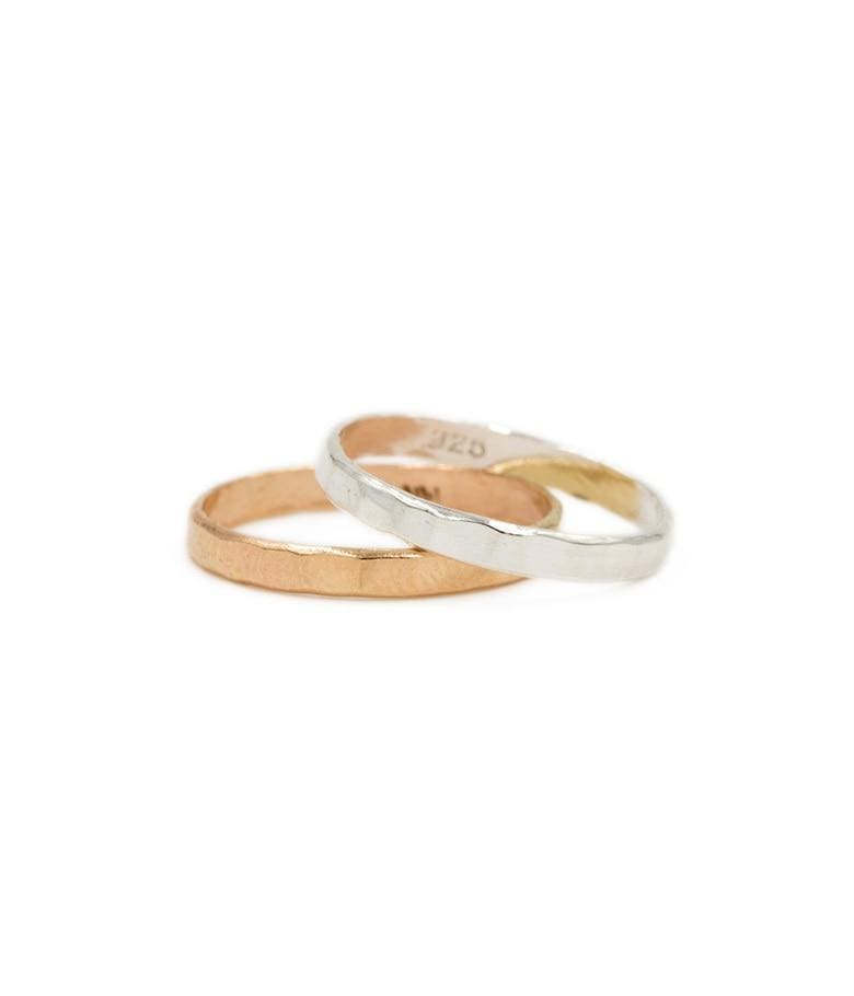 Hammered Gold Layering Ring