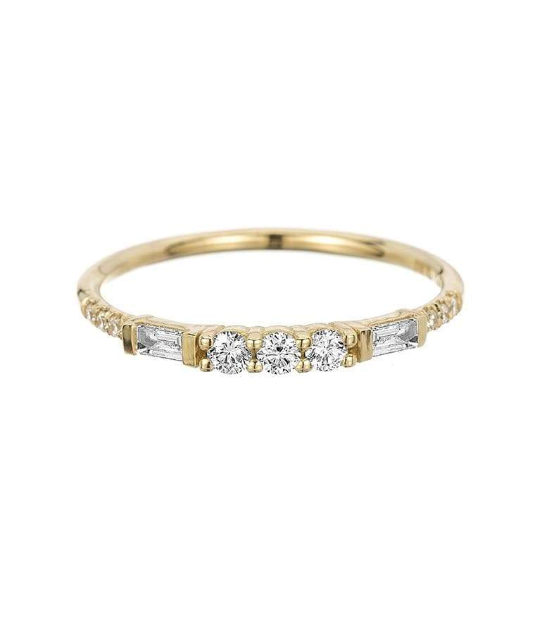 3 Diamond Baguette Equilibrium Ring*** - LoveAudryRose.com