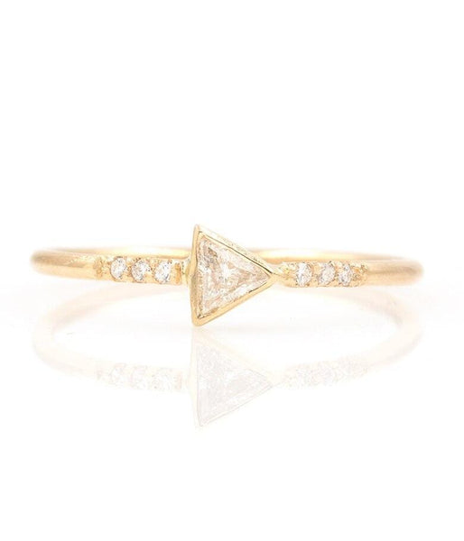 Trillion Diamond Ring