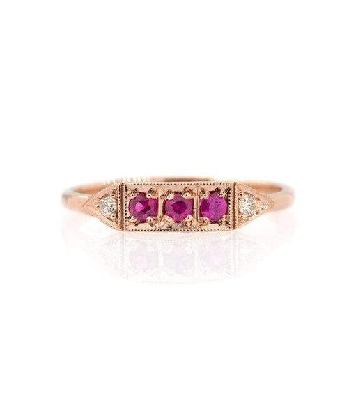 Triple Ruby Champagne Diamond Band* - LoveAudryRose.com