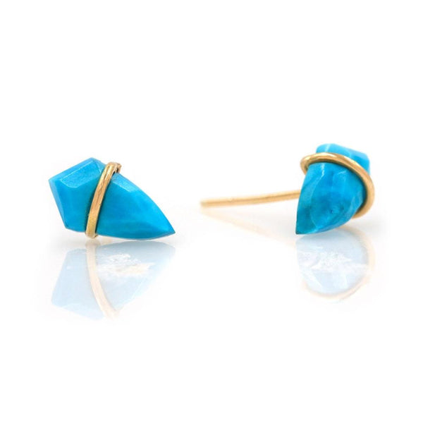 18k Turquoise Kite Studs - LoveAudryRose.com
