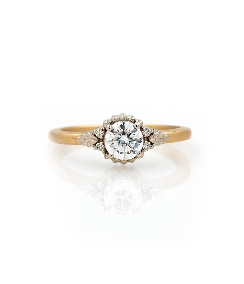 18k Two Toned Round Diamond Ring