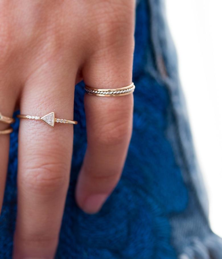 Ultra Thin Gold Layering Ring