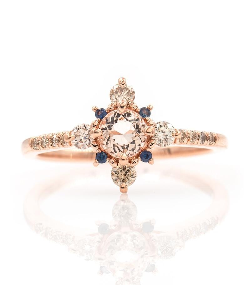 Winter Forest Morganite Ring - LoveAudryRose.com