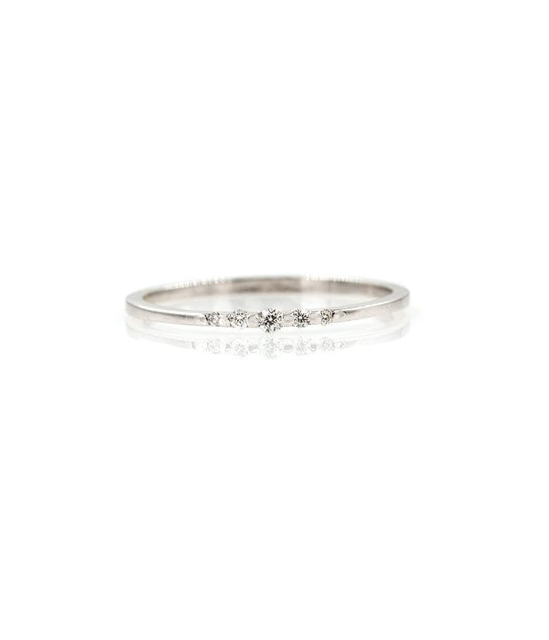 Tapered White Diamond Band