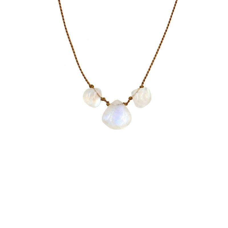 Rainbow Moonstone Vibe 3 Necklace - LoveAudryRose.com