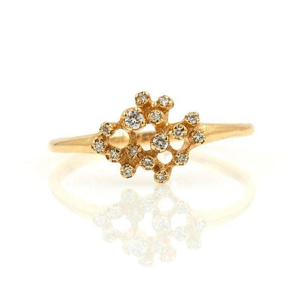 Rose Gold Glittering Diamond Ring - LoveAudryRose.com