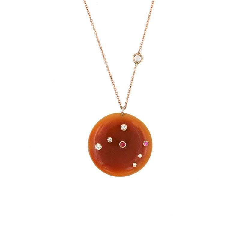 Carnelian Constellation Necklace - LoveAudryRose.com