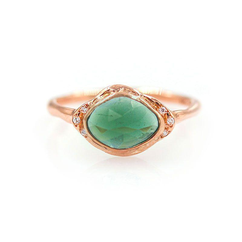 Teal Tourmaline Ring* - LoveAudryRose.com