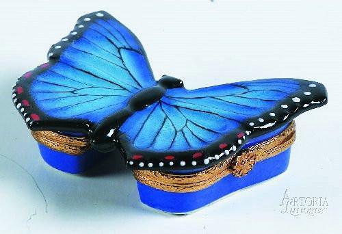 Blue Butterfly Limoges Boxes Limoges Boxes Porcelain Figurines Collectibles French Gifts