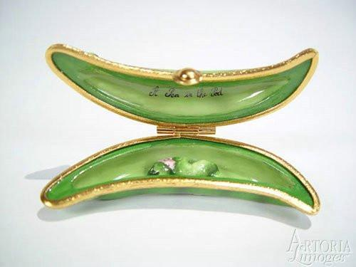 A Pea In A Pod Limoges Boxes Limoges Boxes Porcelain Figurines Collectibles French Gifts