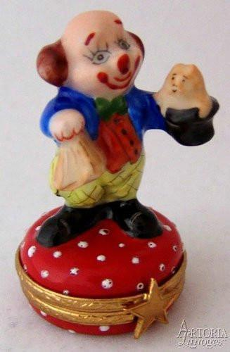 Clown With Hat Limoges Boxes - Limoges Boxes Porcelain Figurines