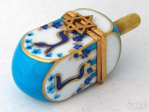 Dreidel Limoges Boxes - Limoges Boxes Porcelain Figurines