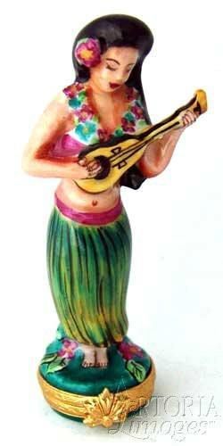 Hula Woman With Ukulele Limoges Boxes Limoges Boxes Porcelain Figurines Collectibles Gifts