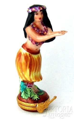 Hula Woman Limoges Boxes Hawaii Limoges Boxes Porcelain Figurines Collectibles Gifts