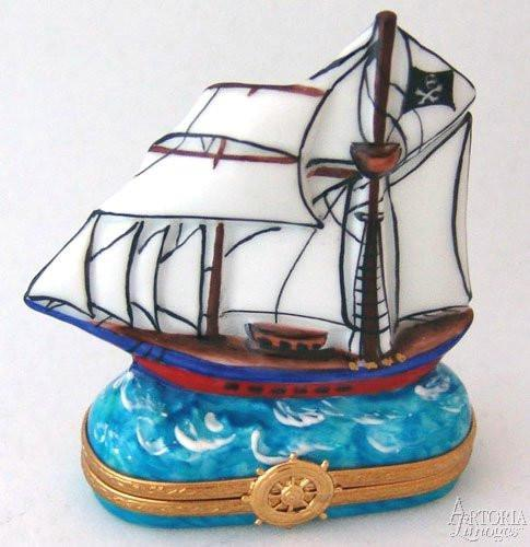 Pirate Ship-vehicles baby travel pirate ship-Artoria-Limoges Box Boutique