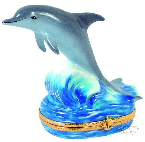 Dolphin - Limoges Boxes - Limoges Boxes Porcelain Figurines