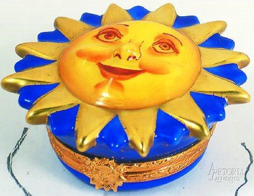 Happy Face Sun - Limoges Boxes Limoges Boxes Porcelain Figurines Collectibles Gifts
