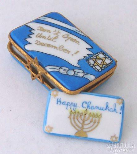 Happy Chanukah Letter Jewish Limoges Boxes Limoges Boxes Porcelain Figurines Collectibles Gifts