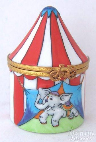 Circus Tent Limoges Boxes - Limoges Boxes Porcelain Figurines