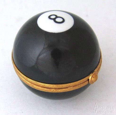 8 Ball-sports pool professional-Artoria-Limoges Box Boutique